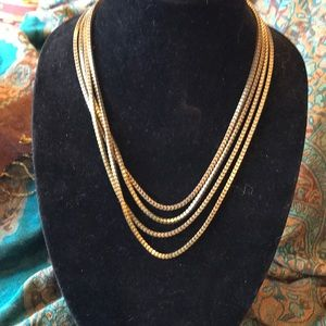 Jewelry - Four layer chain necklace in antique bronze color.